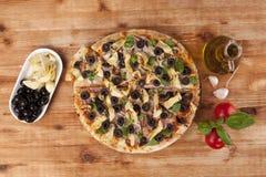 Pizza eating. Stock Photos