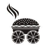 Pizza ed hamburger Immagini Stock Libere da Diritti