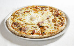 Pizza with egg Stock Photo