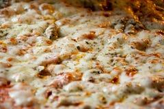 Pizza eigengemaakt recht van de oven Stock Afbeelding