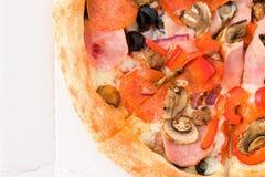 Pizza em um close-up da caixa Foto de Stock