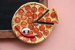 Pizza emblem Royalty Free Stock Photos