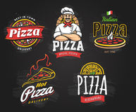 Pizza Emblems Set Stock Image
