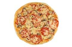 Pizza en blanco Fotos de archivo