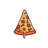 Pizza en el fondo blanco Objeto aislado pizza Fotos de archivo libres de regalías