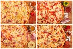 Pizza en la tabla Fotos de archivo libres de regalías