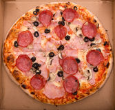 Pizza en rectángulo fotos de archivo libres de regalías