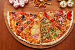 Pizza en sushi F royalty-vrije stock foto