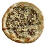 Pizza entera del vegetariano de la alcachofa y de la seta Fotos de archivo