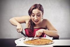 Pizza entro Night Fotografia Stock Libera da Diritti