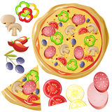 Pizza.eps Fotos de Stock Royalty Free
