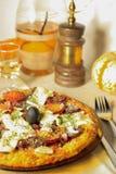 Pizza especial de la base de la patata Fotografía de archivo libre de regalías