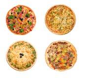 Pizza et cuisine italienne. D'isolement Photos libres de droits