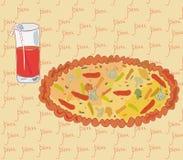 Pizza et jus Photographie stock libre de droits