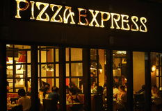 Pizza express restaurant Stock Photo