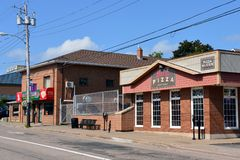 Pizza för Napoli och Kenny ` s konkurrerar i Sydney, NS Arkivfoton