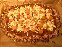 Pizza für Gesundheit Stockbild