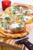 Pizza für zwei stockbild