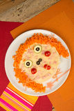 Pizza face Stock Images