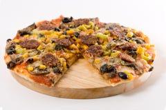 Pizza faite maison Image stock