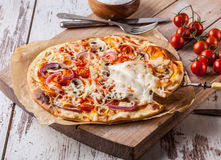 Pizza faite maison Image stock