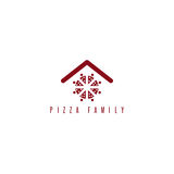 Pizza family vector concept with abstract people Stock Photos