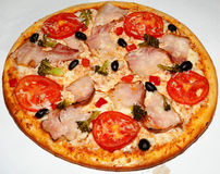 Pizza, fast food Stock Images