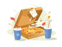 Pizza fast food Royalty Free Stock Photo