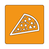 Pizza fast food emblem icon Stock Images