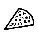 Pizza fast food icon Stock Images