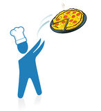 Pizza fast service Royalty Free Stock Photo