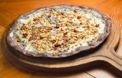 Pizza fatta a mano del cioccolato Fotografie Stock Libere da Diritti