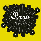 Pizza Festival. Hand drawn lettering background. Pizza Festival lettering Royalty Free Stock Photo