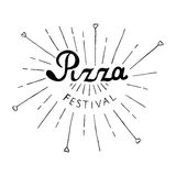 Pizza Festival lettering. Isolated. On white background Royalty Free Stock Image
