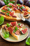 Pizza with figs, Stock Photography