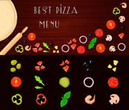Pizza Filler Vegetables Set Royalty Free Stock Photos