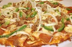 Pizza fina da crosta Foto de Stock