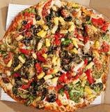 Pizza fina deliciosa do vegetariano da crosta Imagem de Stock Royalty Free