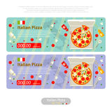 Pizza flat icon banner italian handmade Royalty Free Stock Photography
