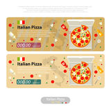 Pizza flat icon banner italian handmade Royalty Free Stock Image