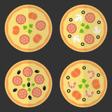 Pizza flat icon. Stock Photography