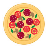 Pizza flat icons isolated on white background. Pizza food silhouette. Pizza menu illustration isolated Stock Photos