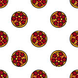 Pizza flat pattern Royalty Free Stock Photo