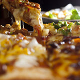 Pizza food. A Delicious pizza food background Stock Photos