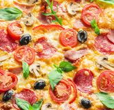 Pizza. Food background. Royalty Free Stock Images