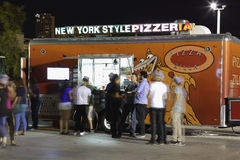 Pizza food truck at Wynwood Royalty Free Stock Photography