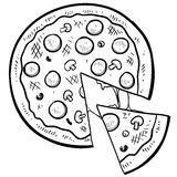 Pizza food vector Royalty Free Stock Photo