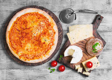 Pizza four cheese Stock Image