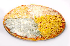 Pizza with four cheeses.  Stock Photography