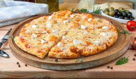Pizza `Four cheeses` Royalty Free Stock Images